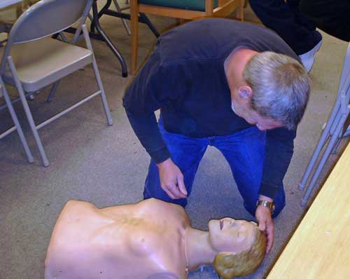 Burl tries his hand at CPR